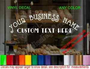 Store Name Custom Window Decal Business Shop Storefront Vinyl Door Sign Company