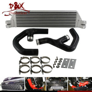 Black Turbo Twin Intercooler Kit For Vw Golf Mk5 Mk6 Gti Fsi Jetta 2 0t A3 06 09