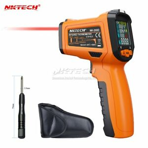 Nktech Digital Laser Infrared Ir Gun Nk 200d 5 in 1 Lcd Humidity Dew Thermometer