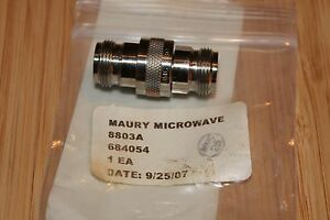 Maury Microwave 8803a N Type Female female Adapter Dc 18 0ghz Low Vswr