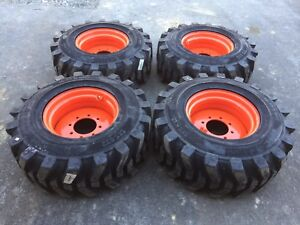 4 Hd 14 17 5 Sks532 Skid Steer Tires Rims wheels For Bobcat S300 s330 14x17 5