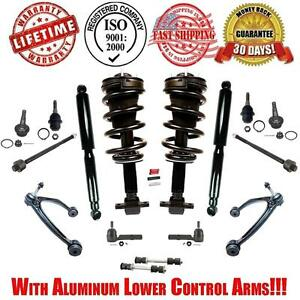 Control Arms Steering Suspension Chassi Kit Complete Struts Spring Shocks