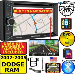 02 03 04 05 Dodge Ram Gps Navigation System Dvd Cd Usb Aux Car Stereo Radio