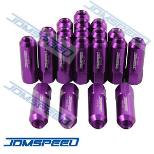 M12x1 5mm 20 Pcs Purple Open End Extended Aluminum Tuner Racing Wheel Lug Nuts