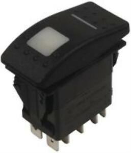 Carling Technologies Vld2uhnb aac00 000 Switch Rocker Dpst 20a Black