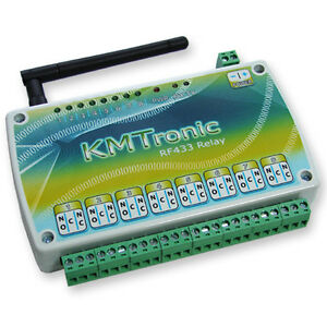 Kmtronic Rf433mhz Eight Channel Relay Board Box 12v