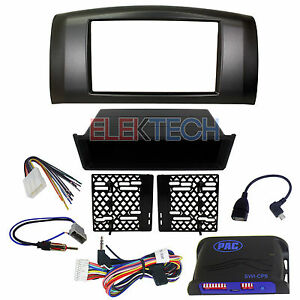 Radio Replacement Dash Kit 2 din W harness antenna Steering Control For Nissan