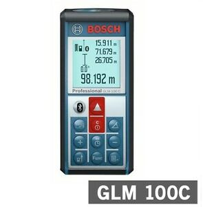 New Bosch Glm100 C Professional Laser Measure Distance Angle Range Finder