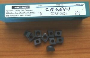 10 Pcs Ingersoll Cutting Tools Cm 654 1 Cde313r34 205 Lathe Carbide Inserts New