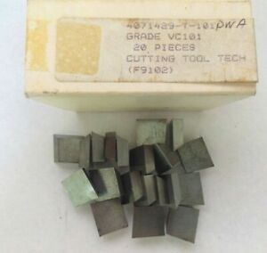 20 Pcs Cutting Tools Tech 4071429 T 100pwa Vc101 Carbide Inserts Lathe Milling