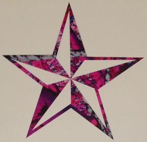 5 Point Star Vinyl Decal 5 Truck Blue Camo Cowgirl Muddy Tattoo Country Girl