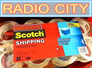 Scotch 3m Clear Heavy Duty Shipping Packing Tape 8 Rolls Total 349 Yd 320 M