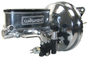 New Power Brake Booster Wilwood Polished Master Cylinder Valve 67 70 Mustang