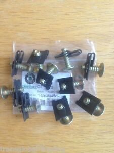 Land Rover Defender Floor Pan Captive Spire Nuts And Screws X10 Bearmach Parts