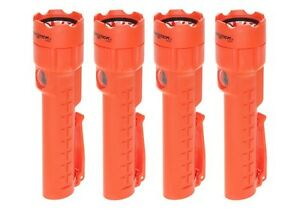 4 pack Of Bayco Nightstick Nsp 2422r Red Dual light Flashlight With Magnet Tail