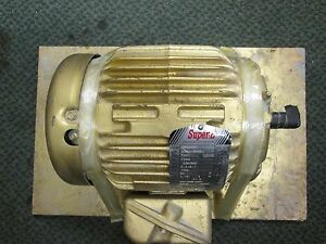 Baldor Super e Motor Em3584t 1 5hp 1750rpms 3ph 230 460v 4 2 2 1a New Surplus
