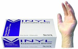 1000 Disposable Powder free Vinyl Medical Exam Gloves latex Free Small x large