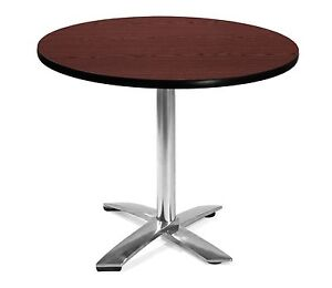 36 Round Flip Top Restaurant Table With Mahogany Laminated Top Table Height