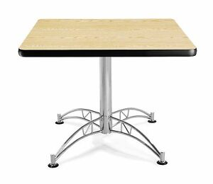 36 Square Cafe Table With Oak Laminated Top Table Height Restaurant Table