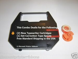 Combo Deal Sears Electronic Scholar Sr3000 Typewriter Ribbons Correction Spool