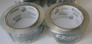 2 Pack Duck Tape Ez Start 1 88 X 109 Total Yards Packaging Shipping Clear