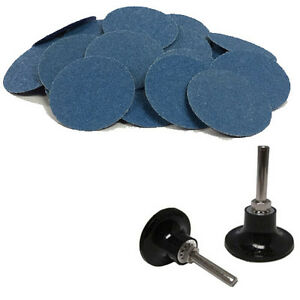 100 3 Roloc Zirconia Quick Change Sanding Disc 40 60 80 120 Grit And Mandrel