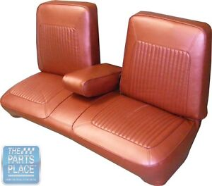 1967 Barracuda Seat Covers Black Bench W Armrest Fastback Rear Pui