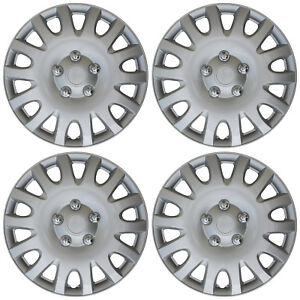 4 Piece Set 16 Inch Hub Cap Silver Rim Cover For Oem Steel Wheel Covers Caps