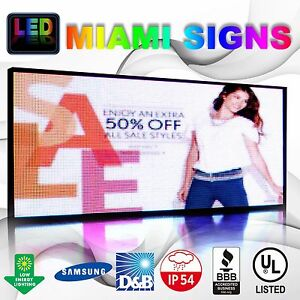 Led Sign Full Color Programmable Message Led Display Size 41 X 79 Outdoor Sign