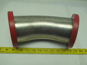 4 45deg long Sweep Flanged Stainless Steel Sanitary Pipe Fitting