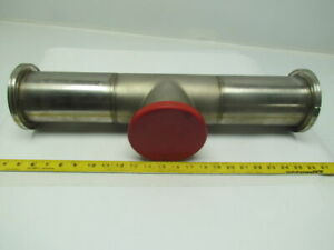 4 Clamp Style Stainless Steel Sanitary Pipe Fitting Long Tee 21 3 4 Oal