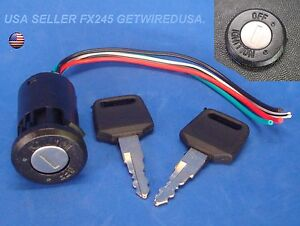 Universal Ignition Switch Flush Mount 12 Volt 2 Key 2 Position On Off Lock