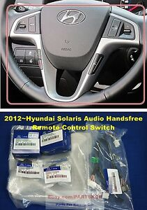 For 2012 Hyundai Accent Solaris Steering Wheel Remote Control Switch 6pcs 1set