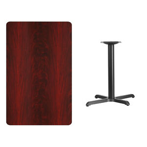 30 X 48 Mahogany Laminate Table Top With Base Table Height Restaurant Table