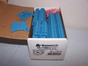 Automation Direct Kn t10blu Terminal Block 30a 600v New In Box Lot Of 95