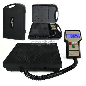 The Best Digital Refrigerant Electronic Charging Scale 220 Lbs Hvac W Case