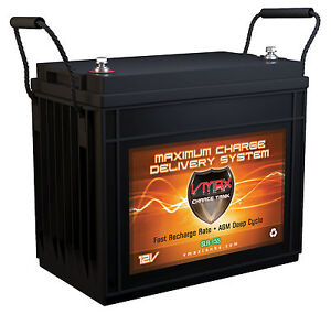 Solar Power Battery By Vmaxtanks Slr155 Hi Capacity Maint Free Agm Battery 155ah