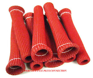 Viper Red Heat Protector Sleeve Spark Plug Wire Boots Made In Usa