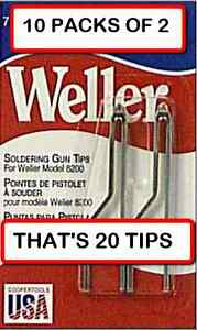 10 Packs Weller 7135w Solder Tip Replacement For 8200 Solder Gun 2 Per Pack
