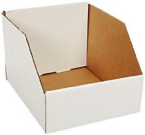Corrugated Cardboard Jumbo Open Top Bin Boxes 12 X 12 X 8 bundle Of 25