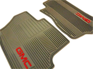 19166592 2007 2014 Gmc Yukon Oem Front All Weather Cashmere Floor Mats Gmc Logo
