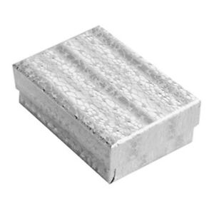 Wholesale 600 Silver Cotton Fill Jewelry Packaging Gift Boxes 3 1 4 X 2 1 4 X 1