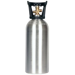 10 Lb Co2 Cylinder New Aluminum With Handle Cga320 Valve Free Shipping