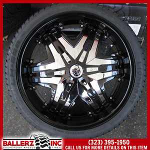 22 Diablo Elite Black Wheels Tires Rims 5x120 Bmw 5x115 Chrysler 300 Dodge 24