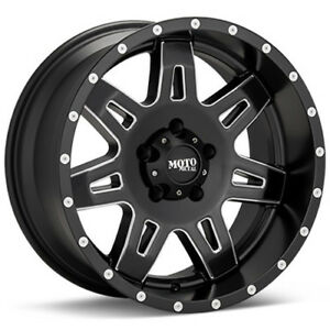 17 Moto Metal 17 Inch Mo975 Satin Black Milled Offroad Ford Chevy Truck Wheels