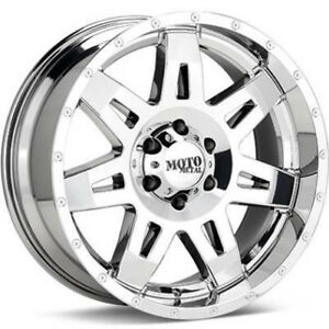 17 Moto Metal 17 Inch Mo975 Bright Pvd Offroad Ford Chevy Truck Wheels