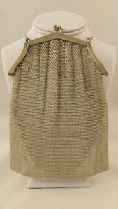 Great Art Deco Solid Sterling Silver Mesh Purse By Howard Great Condition