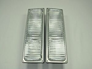 Parking Signal Marker Lights Pair 90 98 Chevy Gmc Truck C k Silverado Sierra