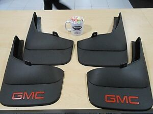 Mud Flaps Splash Guards 07 14 Gmc Sierra Set Of 4 Front Rear 19212552 19212553