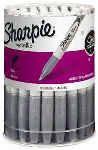Sharpie 9597 Fine Point Permanent Marker Metallic 36 pack Canister New Free
